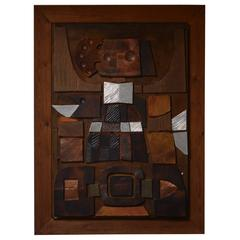 Paul René Gauguin, Relief Made of Copper and Aluminum on a Pine Frame, 1971