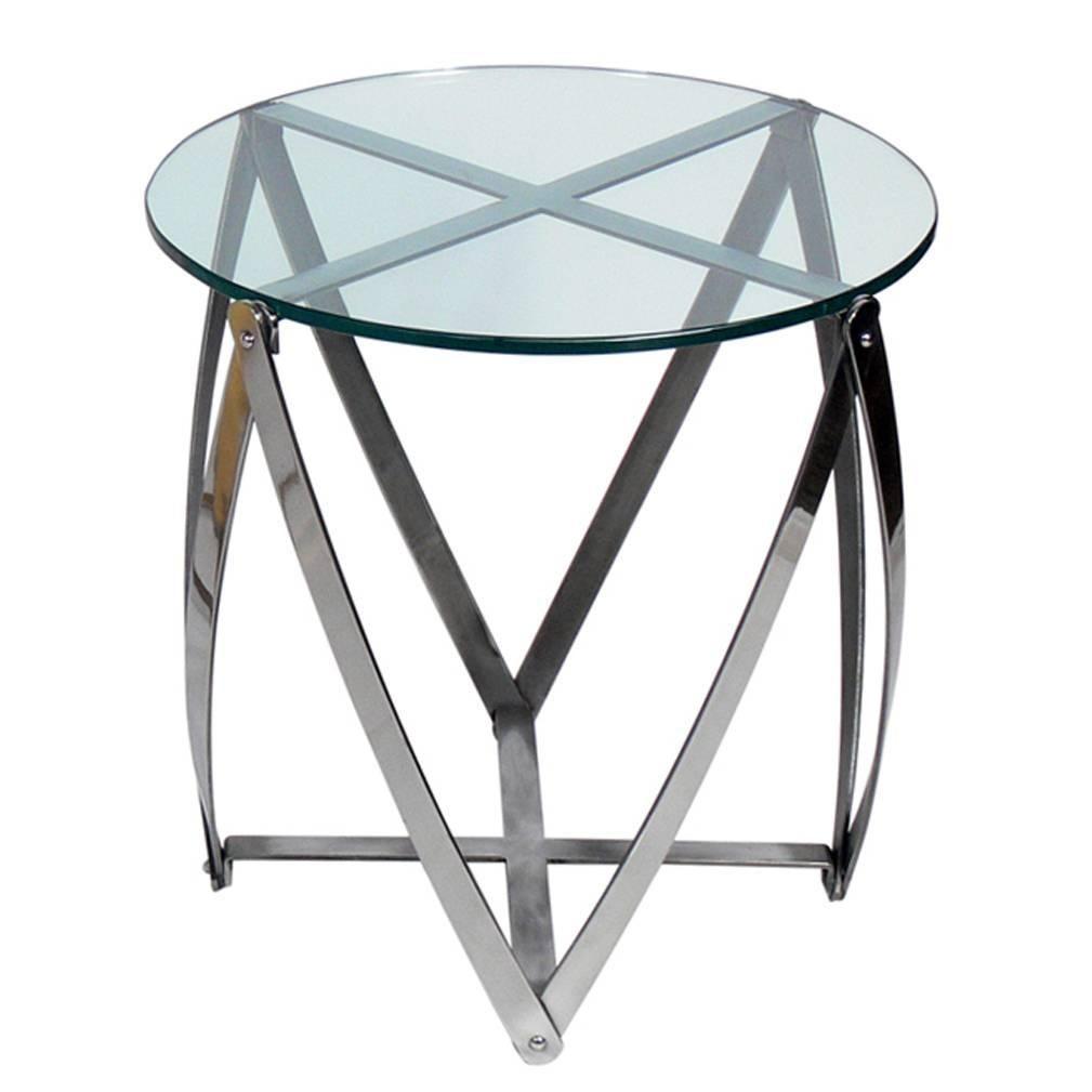 Sculptural Modernist Chromed Metal Table by John Vesey