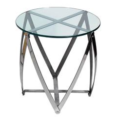Sculptural Modernist Chromed Metal Table by John Vesey