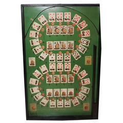 Rare Lindstrom's Poker Ball Pin Game Board