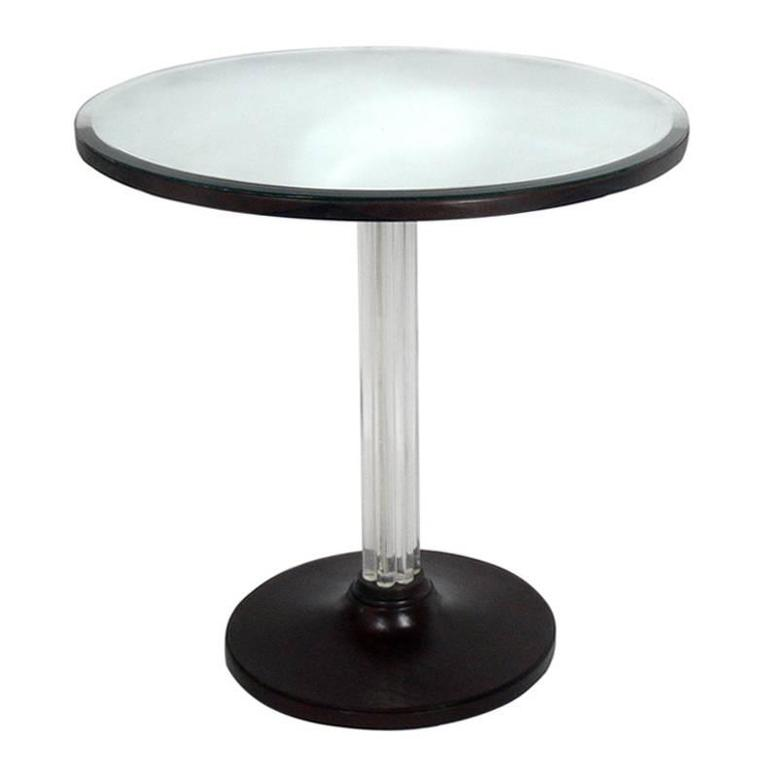 Glamorous 1930s Lucite Table by Grosfeld House