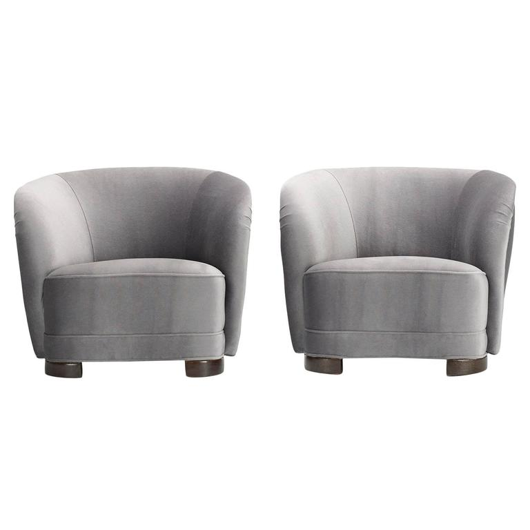 Pair of Danish Cabinetmaker Lounge Chairs 1