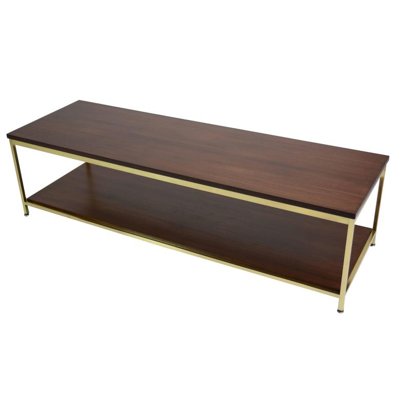 Large Brass Coffee Table by Paul McCobb for Calvin