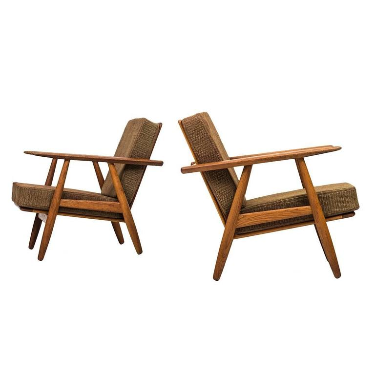 Hans Wegner Cigar Easy Chairs by Getama in Denmark For Sale