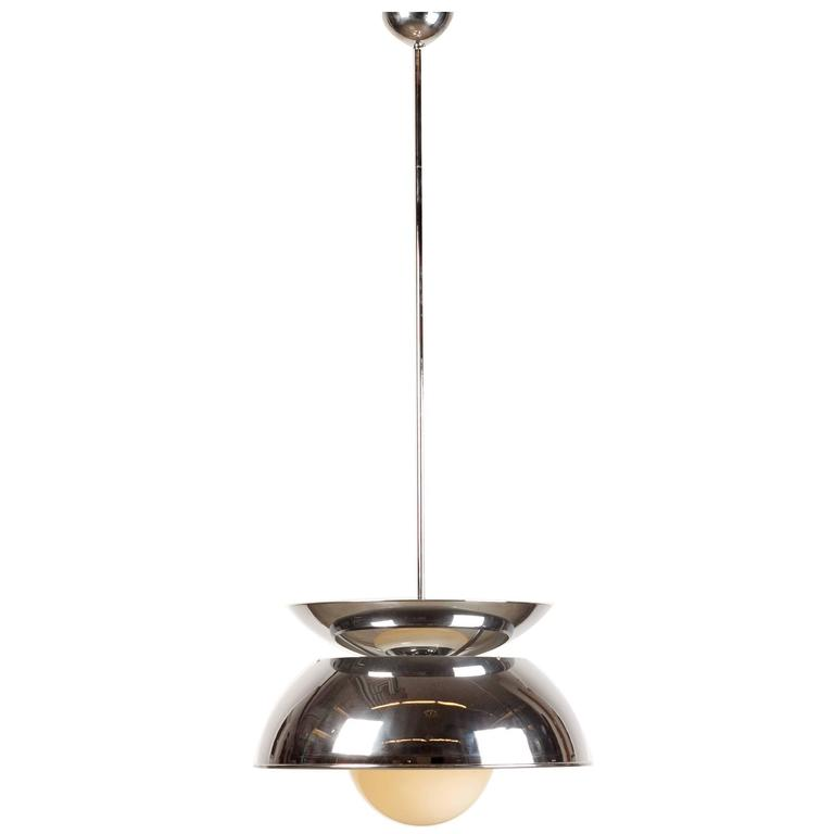Italian Pendant Lamp Cetra By Vico Magistretti For Artemide 1964 Sale