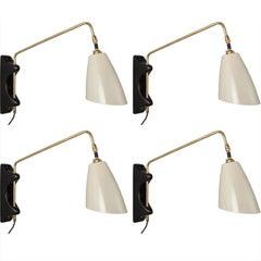Brass Swing Arm Sconce, England, 21st century
