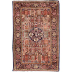 Antique Fine Kashan Persian Rug with an unusual  and Unique Design