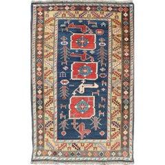 Antique Caucasian Karaqashl Rug