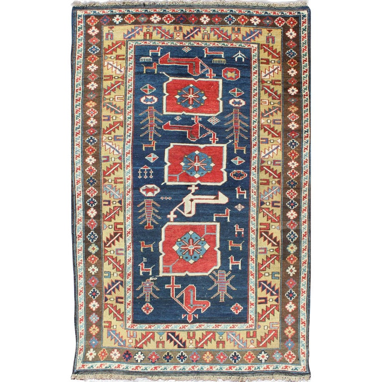 Antique Caucasian Karaqashl Rug For Sale