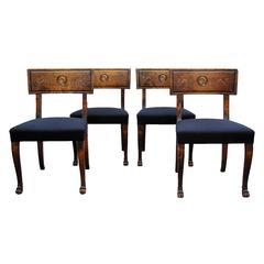 Set of Four Swedish Grace Klismos Chairs by Eugen Höglund
