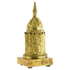 Early 19th Century Gilded Bronze Bell, Highly Architectural Design