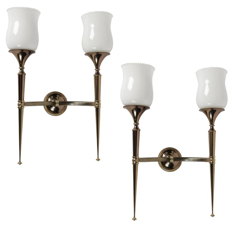 Pair of 1950s Sconces by Maison Arlus