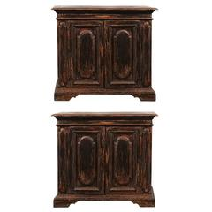 Pair of Late 19th Century Italian Paint Decorated Buffets