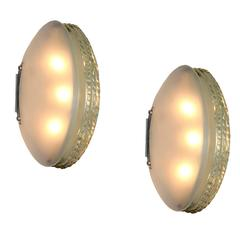 Rare Pair of Wall Lights by Max Ingrand for Fontana Arte