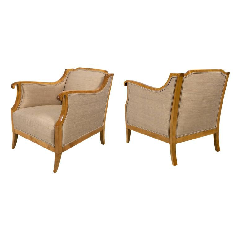 Pair of Swedish Biedermeier Style Chairs, Early 20th Century 1