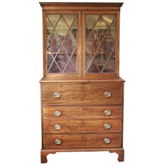 Maryland Federal Hepplewhite Manner Secretary Bookcase