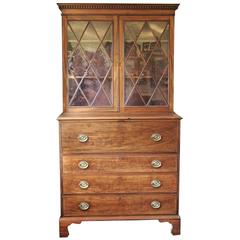 Maryland Hepplewhite Secretary Bookcase