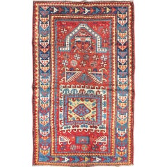 Antique Russian Caucasian Kazak Rug