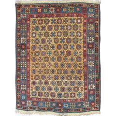 Antique Caucasian Shirvan Rug in Yellow  Background