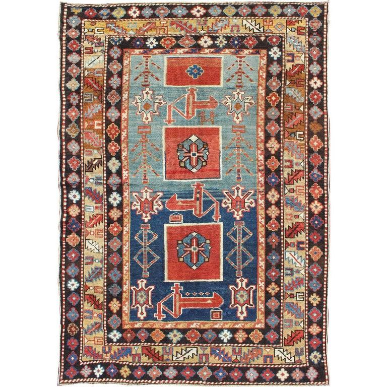Antique Caucasian Qaraqashli Rug For Sale