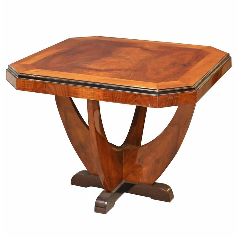 Art Deco Coffee Table in Chestnut veneer