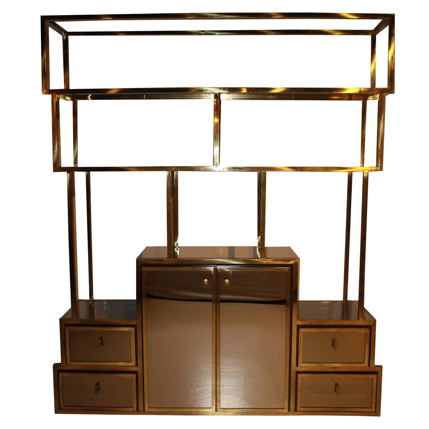 Mastercraft brass etagere at 1stdibs - Etagere charlotte perriand ...
