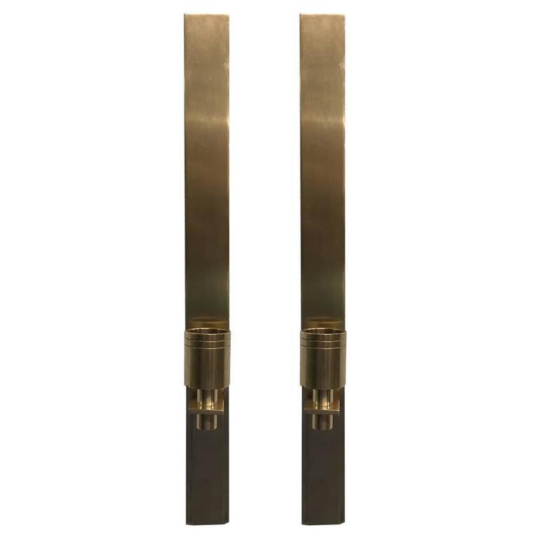 Pair Italian Bronze Sconces