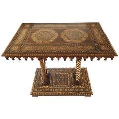 19th Century Italian Inlay Walnut Table