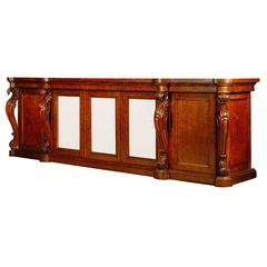 Large George IV, Plum Pudding Mahogany Side Cabinet