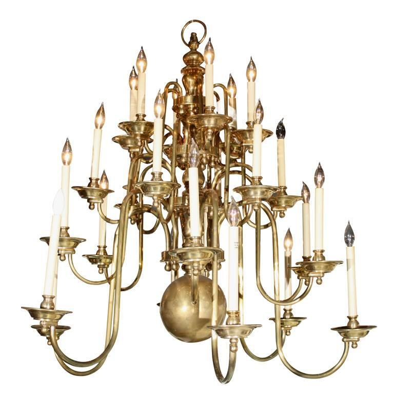Georgian Chandelier: Monumental Georgian Style Brass Chandelier At 1stdibs
