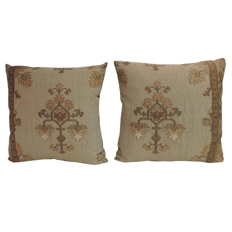 Fantastic Embroidery Holiday Pillow December With Holly At 40stdibs Cool Fairon Decorative Throw Pillow