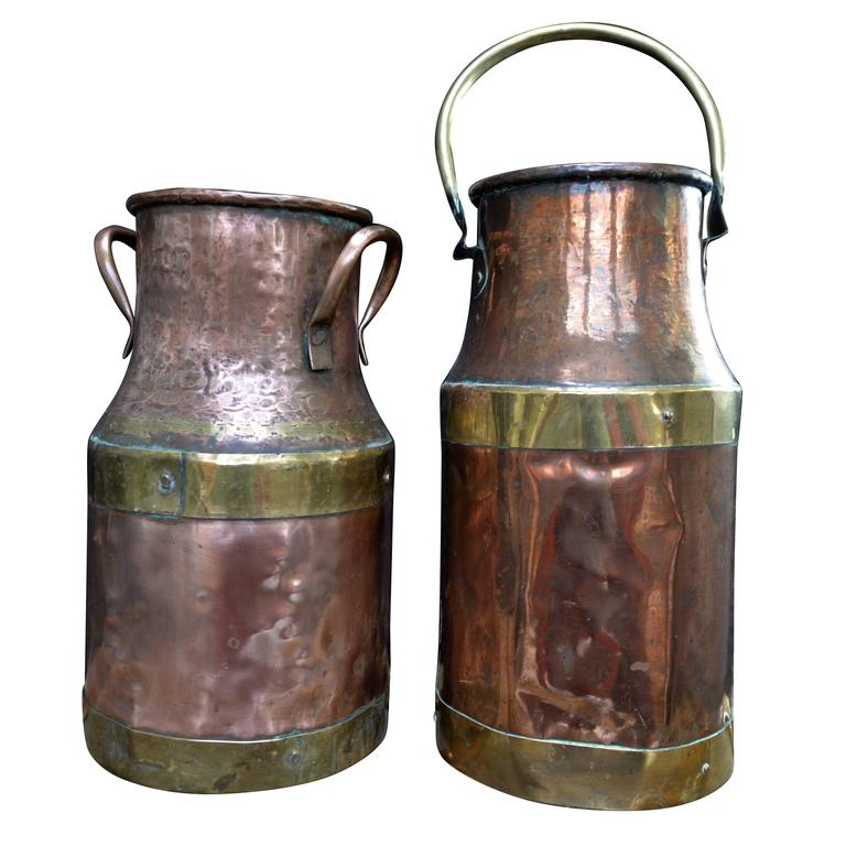 19th Century French Copper Milk Churn