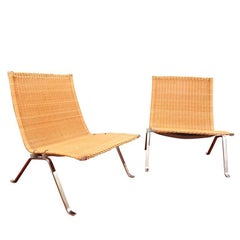 Pair of Lounge Chairs by Poul Kjaerholm