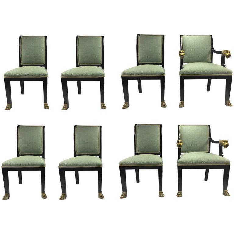 this set of eight lacquered dining chairs is no longer available