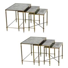 Pair of French Neoclassical Nesting Tables