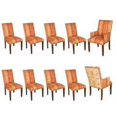 Moroccan Bohemian Style Set of Ten Dining Chairs