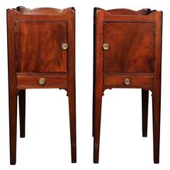 Pair of Georgian Mahogany Pot Cupboards