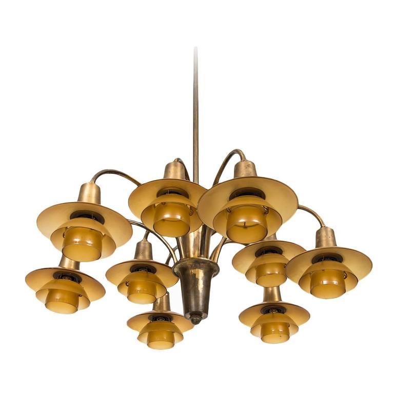 Poul Henningsen Ceiling Lamp Model Ph-1/1 Cascade by Louis Poulsen in Denmark
