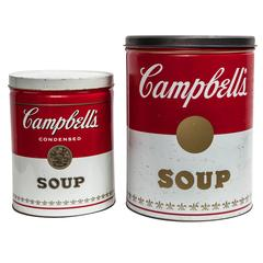 Set of Two Pop Art Advertising Campbell's Soup Cans after Andy Warhol