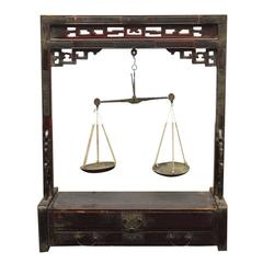 19th Century Chinese Apothecary Balance Scale Stand