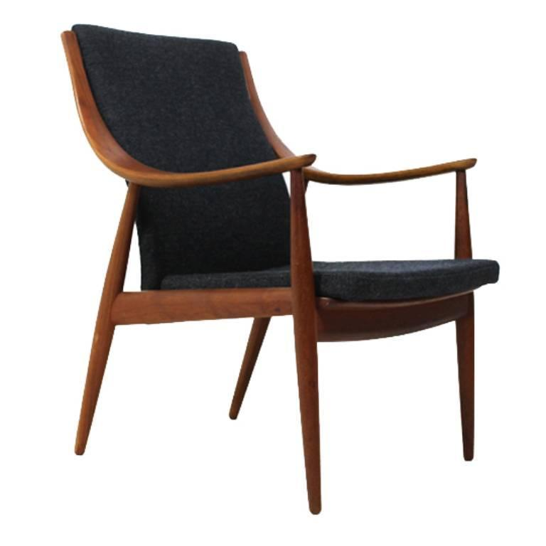 Peter hvidt teak easy chair model 148 france and son for Lounge chair kopie