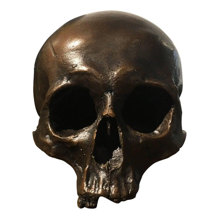 Cast Bronze Skull For Sale