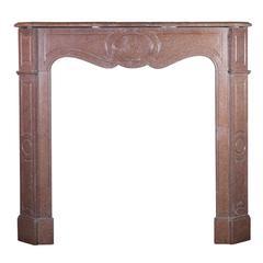 19th Century Pompadour Marble Fireplace Mantel