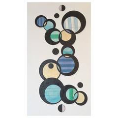 """""""Circles"""" India Ink and Pencil Original on Fine Paper by Steve McElroy, 2015"""
