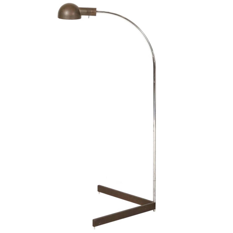 Cedric hartman bronze and chrome floor lamp at 1stdibs for Lexington floor lamp chrome