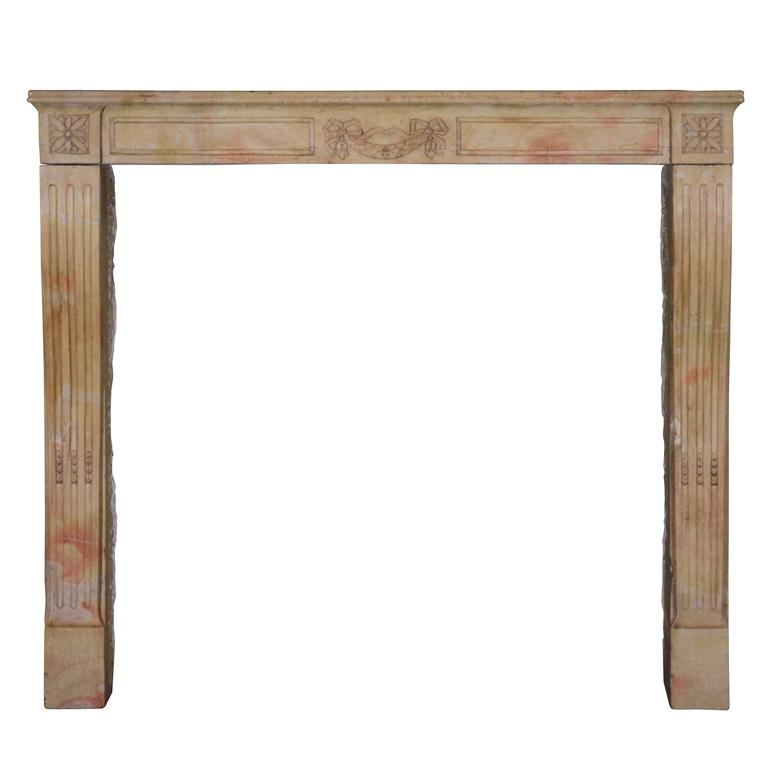 19th Century Marble Stone Antique Fireplace Mantel