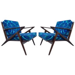 Pair of Z Lounge Chairs by Poul Jensen for Selig