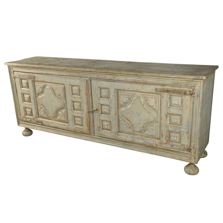 painted buffet enfilade from portugal for sale - Buffet En Enfilade