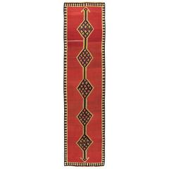 Vintage Turkish Flat-Woven Kilim Runner
