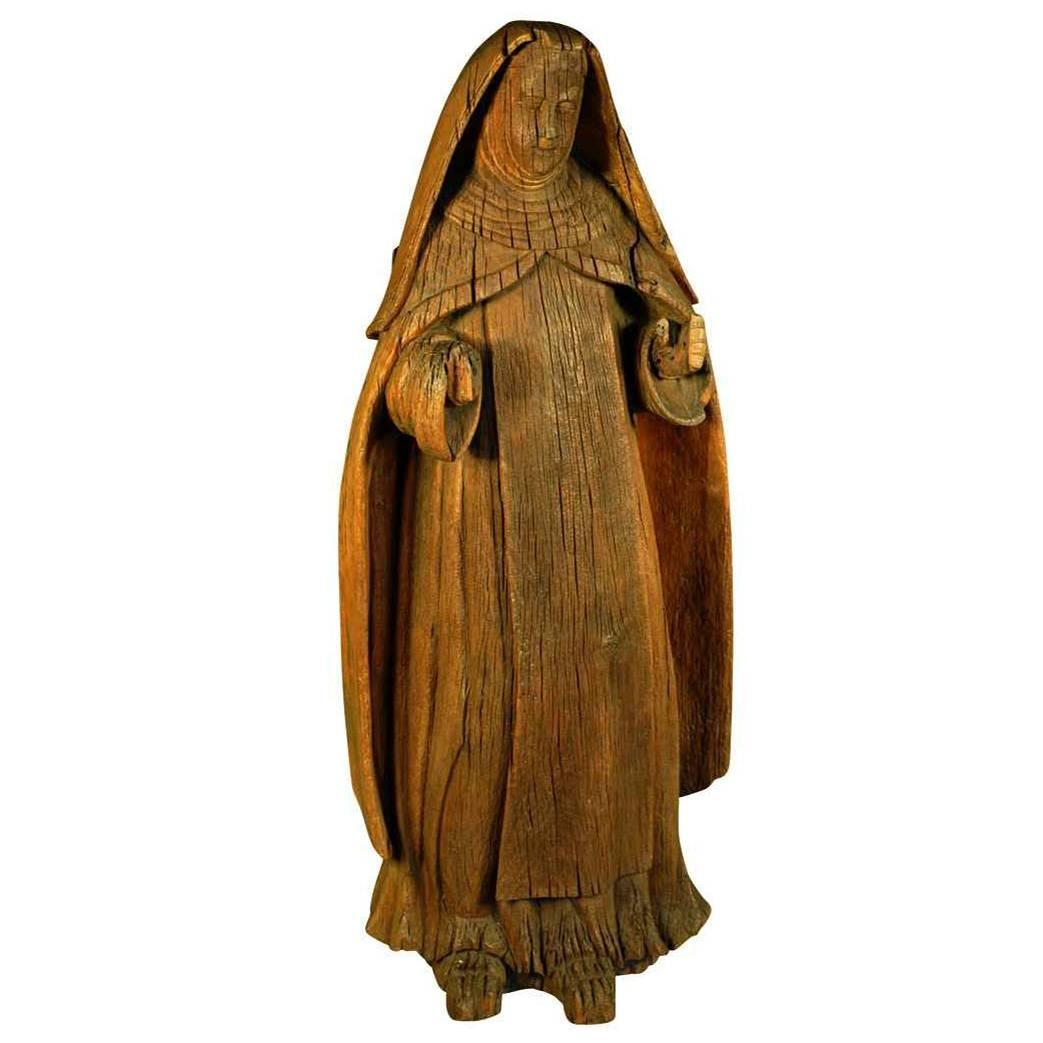 Italian 18th Century Statue of Saint Anne
